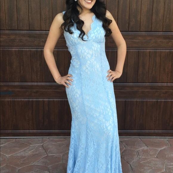 36% off Dresses Light Blue Lace Dress | Poshmark